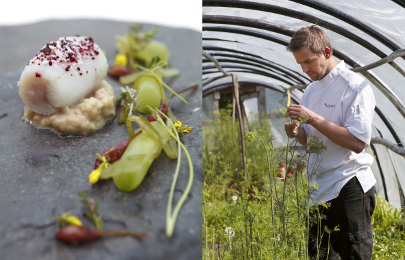 Pike-Perch Starter & Chef Peeter Pihel at Pädaste Manor
